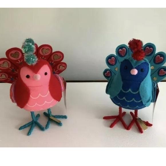 Target Wondershop Toy Maker Bird Christmas Ornaments LOT of 4 Featherly Friends